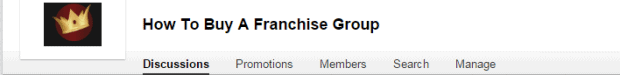 linkedin group on buying a franchise
