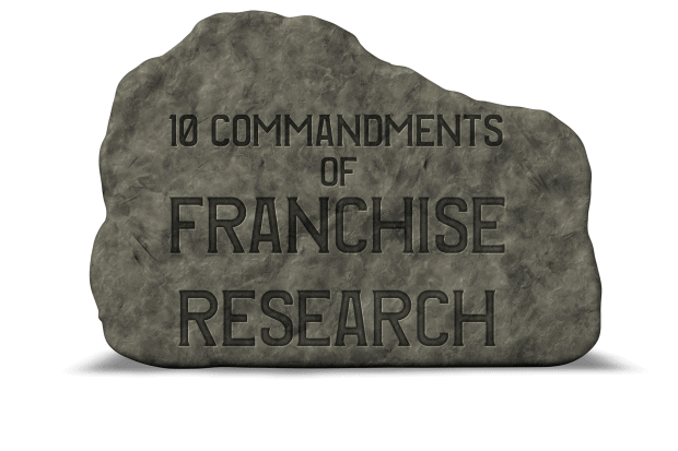 the top 10  franchise research tips