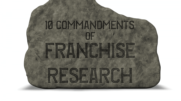 the 10 commandments of franchise business research