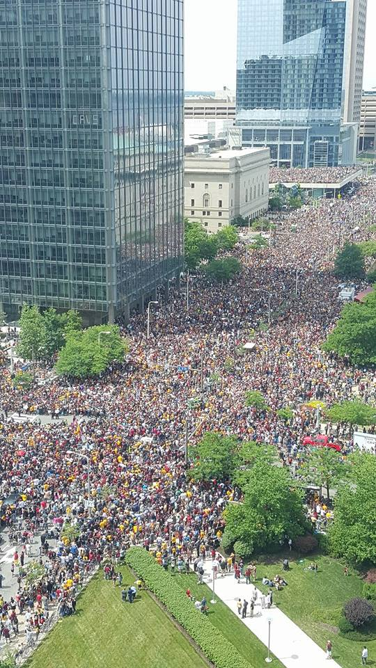 cleveland parade for cavs
