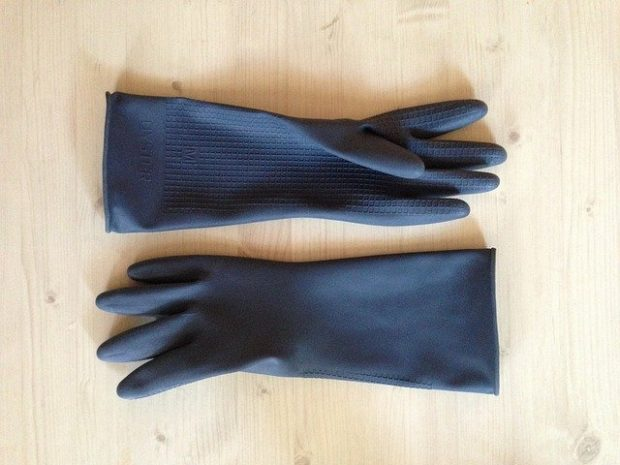 image of gloves used in a commercial kitchen