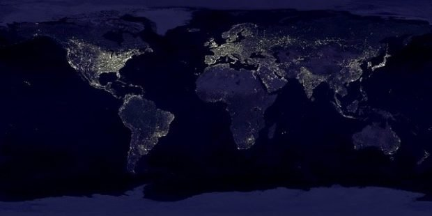 image of the earth at night