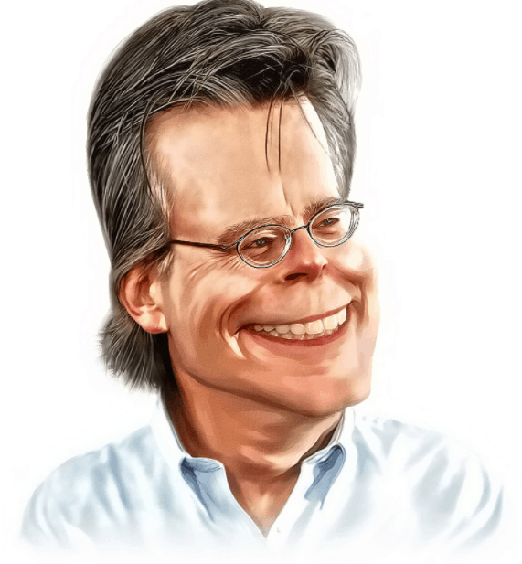 image of stephen king who's mind is scary