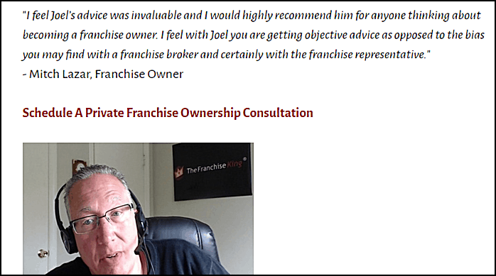 franchise consultation