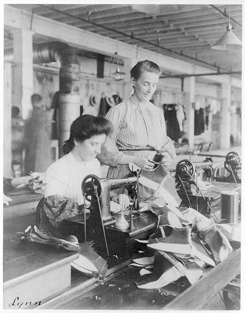 old garment factory with sewing machine