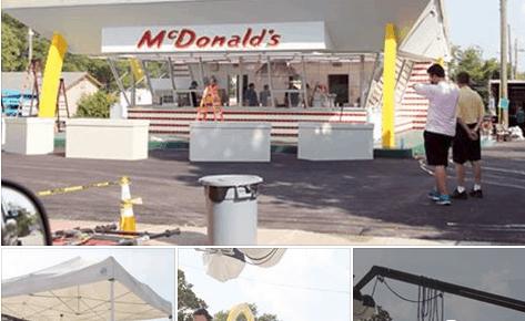movie set for mcdonalds movie