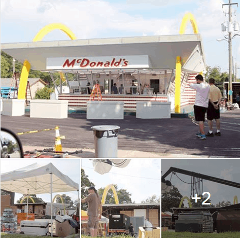 movie set for mcdonalds movie