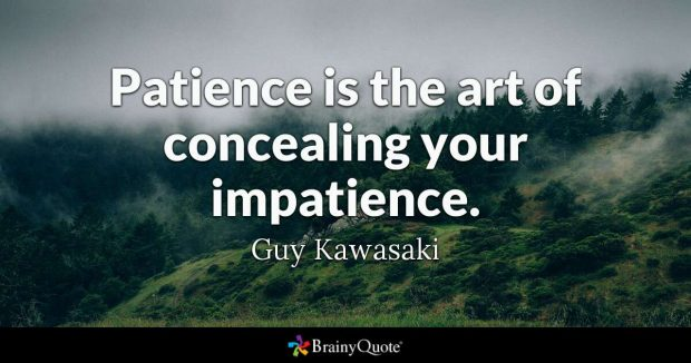 quote about being patient guy kawasaki
