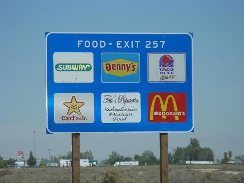 freeway signage
