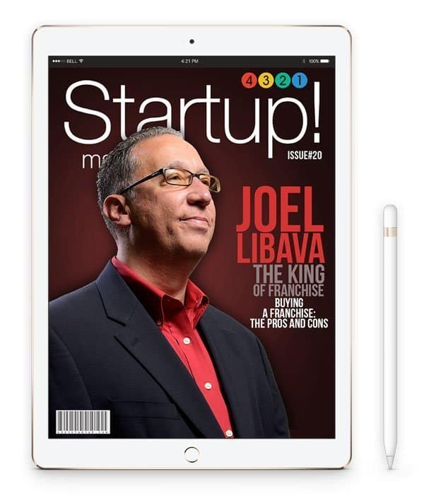 the franchise king startup magazine cover story