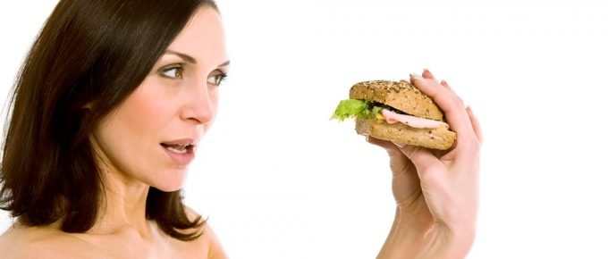 fast food franchise woman eating
