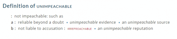 unimpeachable definition