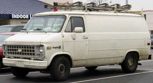 typical window cleaner vehicle