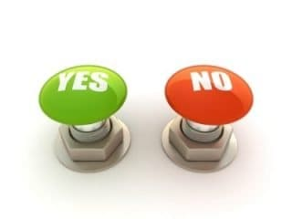decide yes or no